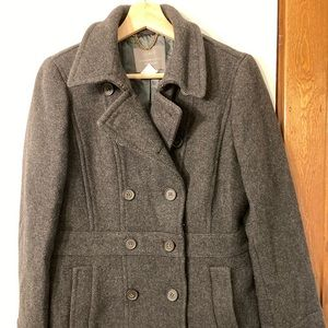 J. Crew Stadium Cloth gray coat 8 Tall